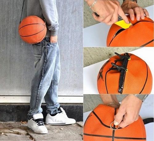 Riciclo Creativo Pallone da Basket - procedimento