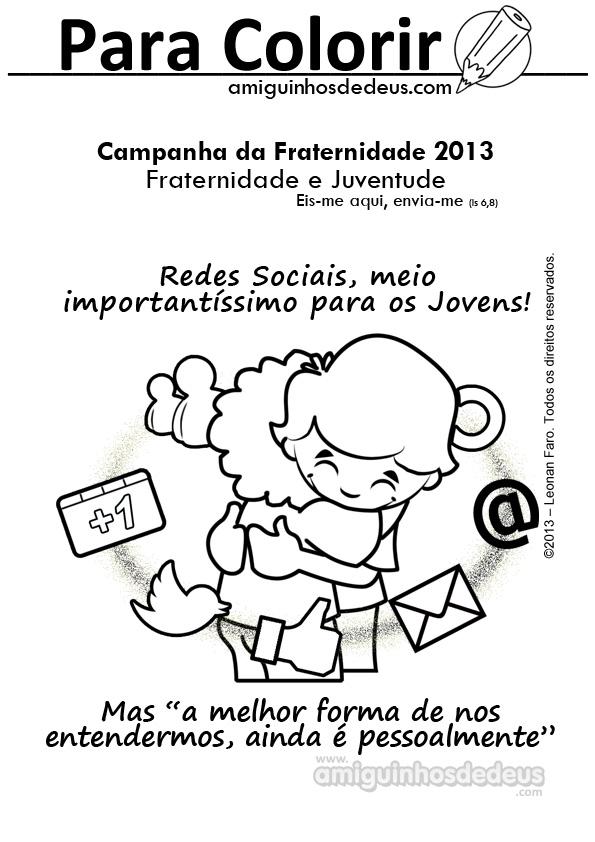 desenho Campanha da Fraternidade 2013 para colorir - CF 2013