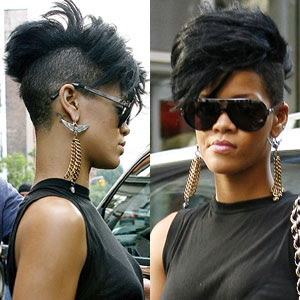 All Fashion Show Trendy: Getting the Rihanna Mohawk Haircut