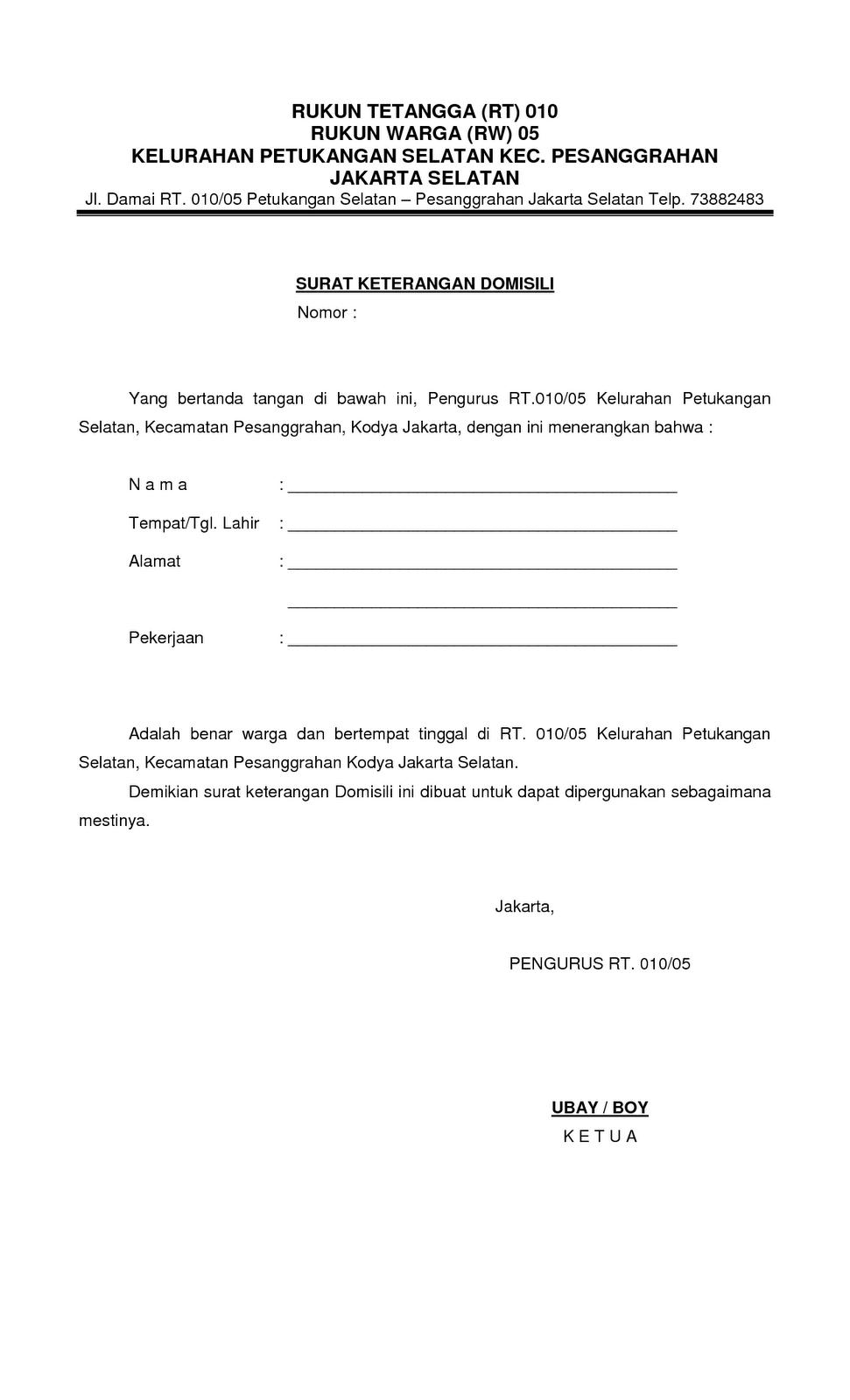 Contoh Surat Keterangan Sakit Dari Dokter Untuk Karyawan