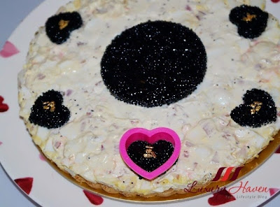pretty heart shape caviar tart party recipe