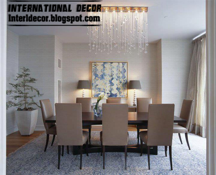 Spanish dining room furniture designs ideas 2014 Contemporary dining room sets with benches