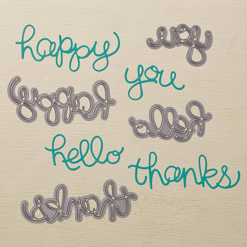 Stampin'UP!'s Hello You Thinlet Dies