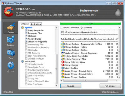 Updated CCleaner Version 3.22.1800