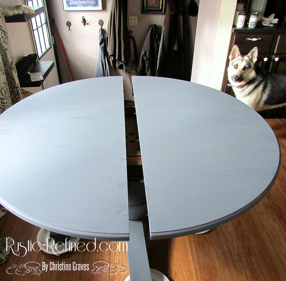 Updating a kitchen table using chalk paintChalk Painting a Kitchen Table   Rustic   Refined. Teal Painted Kitchen Table. Home Design Ideas