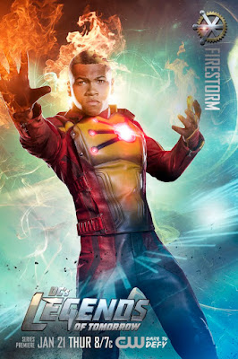 DC's Legends of Tomorrow Character Television Poster Set - Franz Drameh as Firestorm