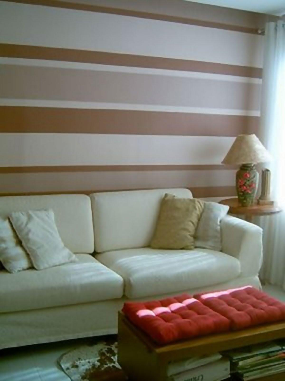 Pinturas De Parede Para Sala Efeito D Na Sala De Tv Pcs Caf Da  -> Parede Sala Listrada