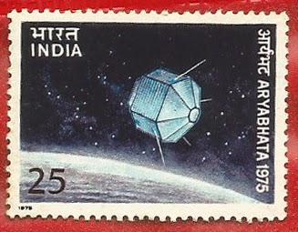 Resultado de imagen de aryabhata satellite stamp