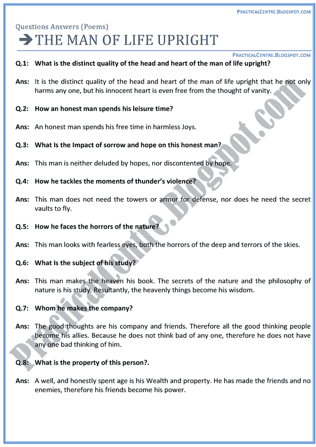 The-Man-Of-The-Upright-Poem-Questions-Answers-English-XII
