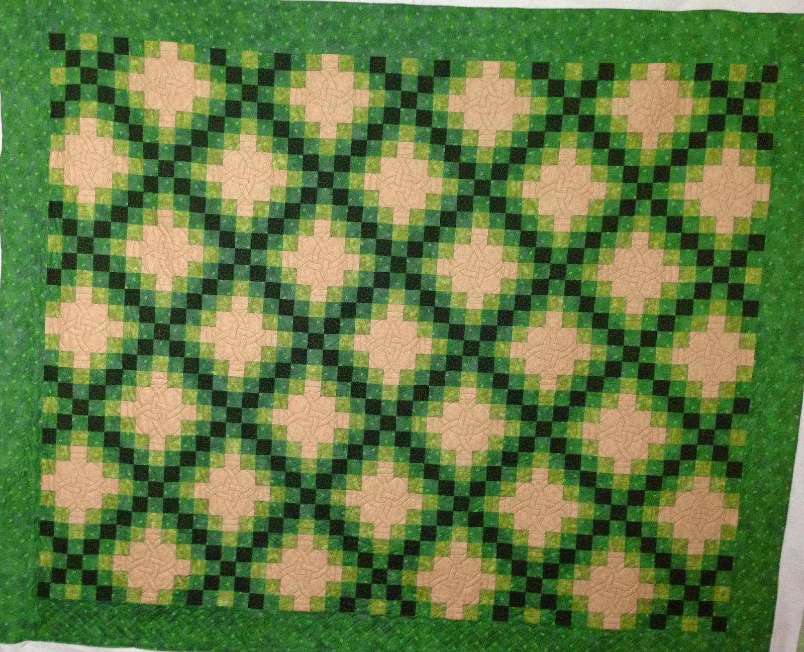 Chris Olsen Irish Chain Quilt
