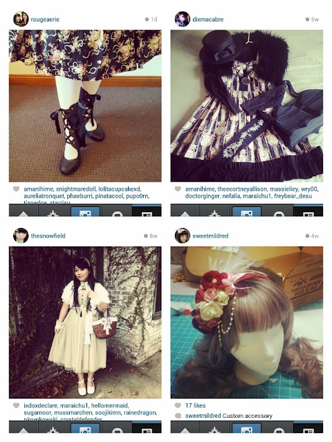 Four of the top ten most underrated lolita instagram accounts