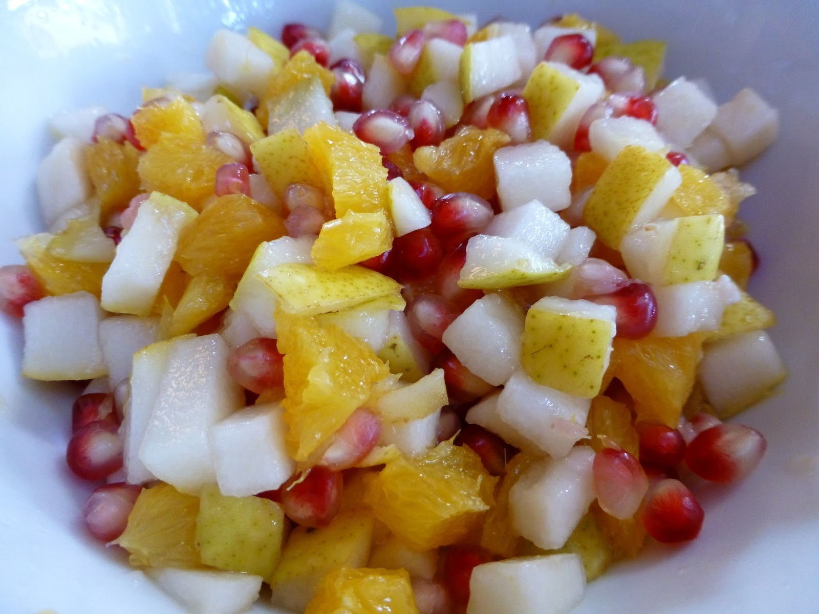 Pomegranate, Pear And Orange Salad - Raw Vegan And Gluten Free