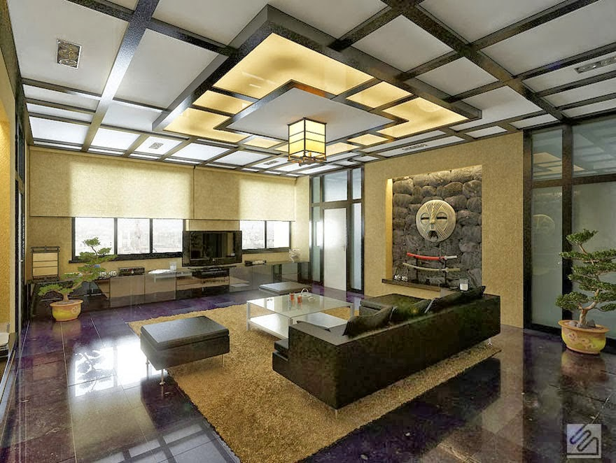 10 False Ceiling Designs In Japanese Style For Living Rooms Characteristics