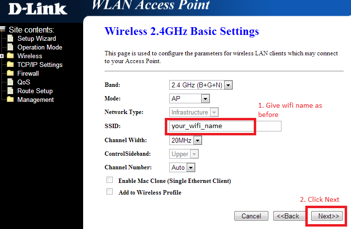 how to put a password on wifi dlink