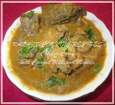 Chicken Curry with Coconut Milk and Masala