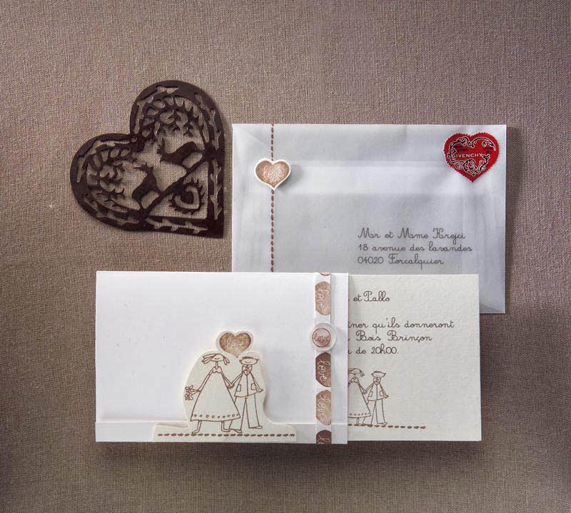 Enveloppe faire part mariage