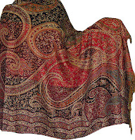 Indian Shawl Stole Wool Fabric Wrap Clothing