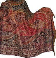 Indian Shawl Stole Wool Fabric Wrap Clothing