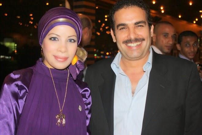 مع الفنان أحمد عبد العزيز عام 2010