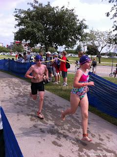 Houston Kids Triathlon run to first transition
