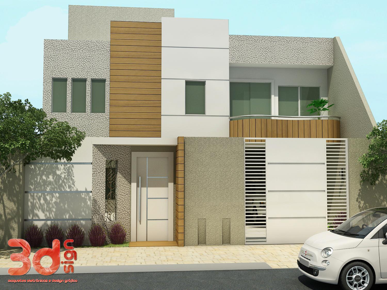Muros e fachadas de casas simples e modernas fotos for Fachadas de casas modernas