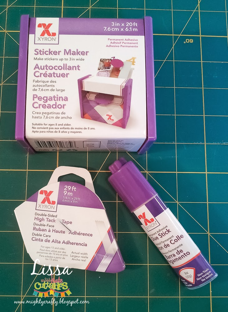 Xyron Sticker Maker, High Tack Tape, and Glue Stick