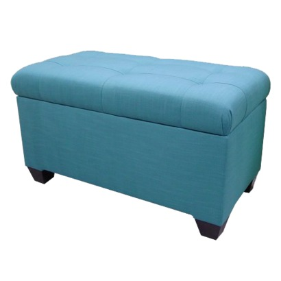 Add Function And Style To Your Room With The Melbourne Linen Double Storage  Ottoman. Upholstered With A 100% Linen Teal Fabric And Features Hardwood  Legs.