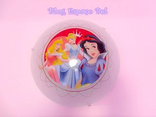 Luminária das Princesas da Disney