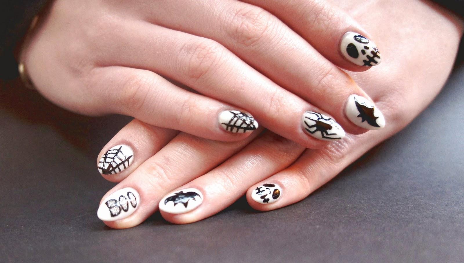 paznokcie halloweenowe