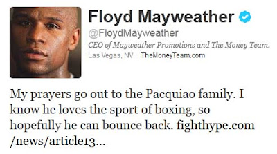 Money May Floyd Mayweather Reaction to Pacquiao vs Marquez 4