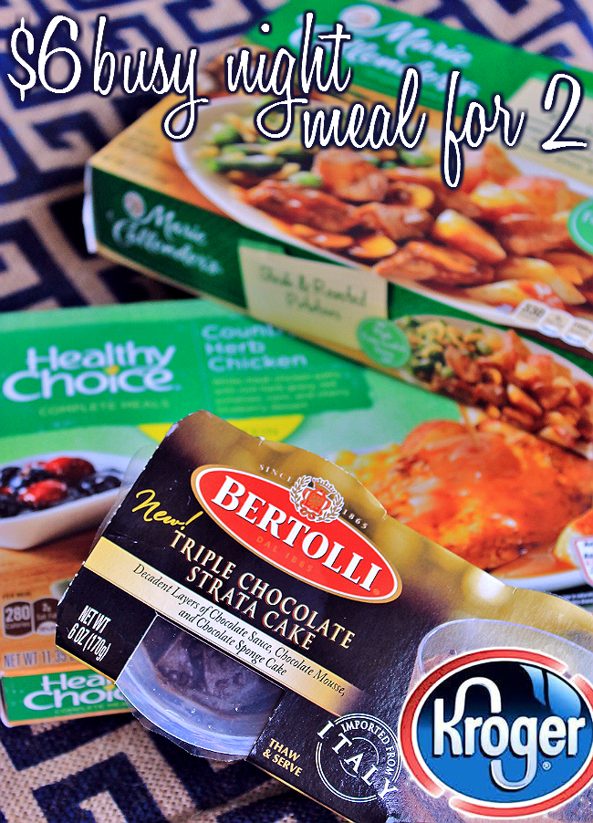 Grab this #FrozenMustBuy at Kroger now through May 19th, 2015- Grab any 6 Bertolli, Marie Callender's, or Healthy Choice single serve frozen entrees for just $1.49 each when you buy 6! #ad