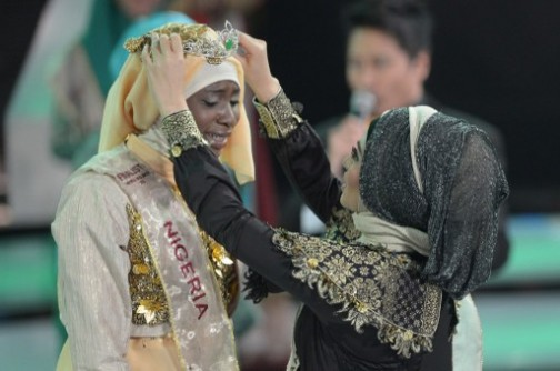 nigerian win miss world muslim beauty contest