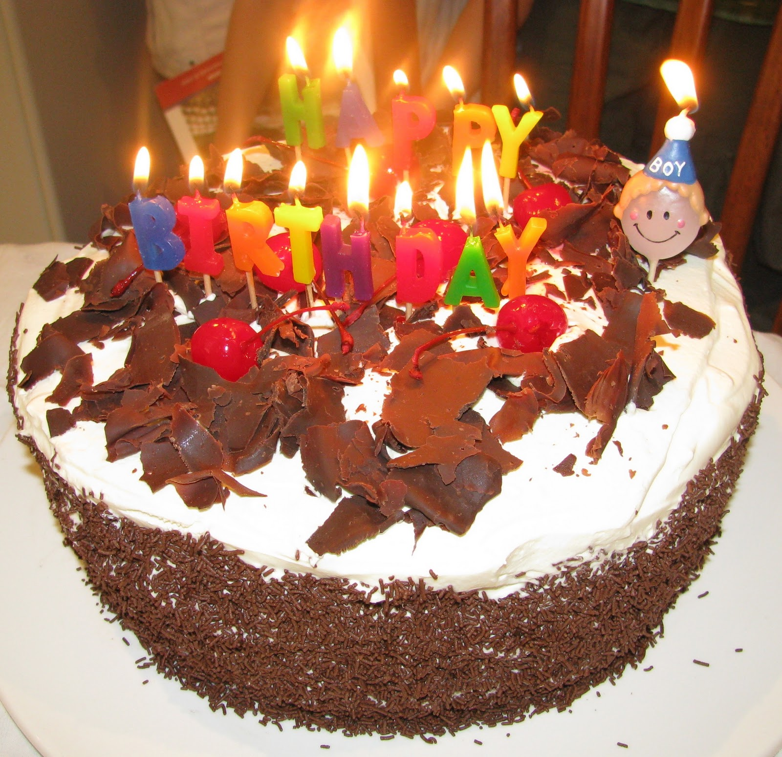 Cake Black Forest Birthday : Mud Cake And More: Black Forest Birthday Cake