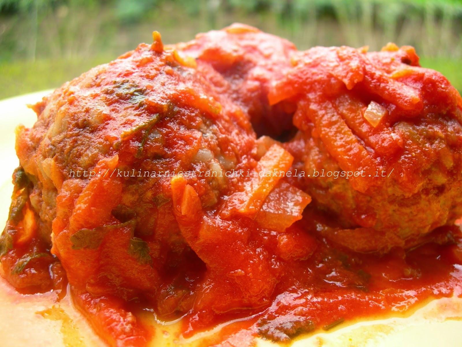 Тефтели с рисом в томатно-сметанном соусе запеченные в духовке 39