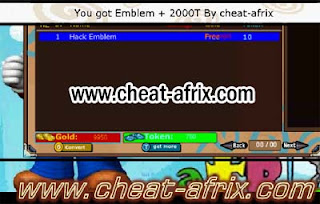 Cheat Token + Emblem Fiddler Ninja Saga 2013