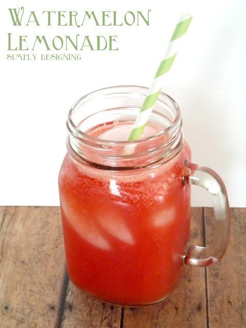 Watermelon Lemonade - fresh homemade watermelon lemonade! So delicious ...