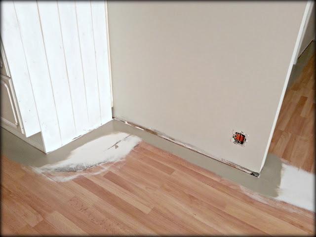 lakkere gulv med farge