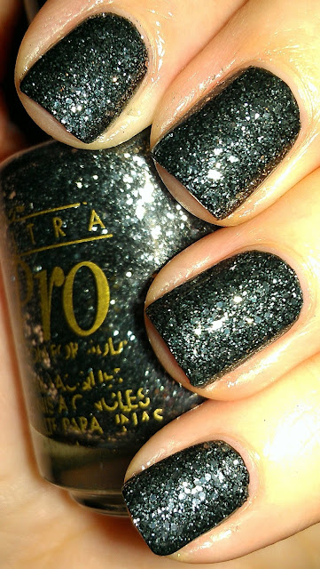 dark grey glitter
