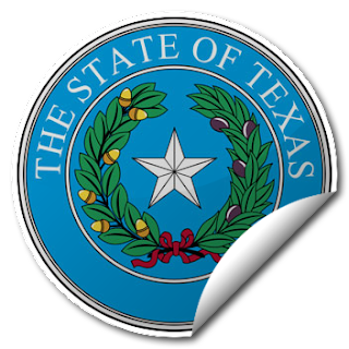 Sticker of American State Seal: Texas Sticker (transparent PNG)