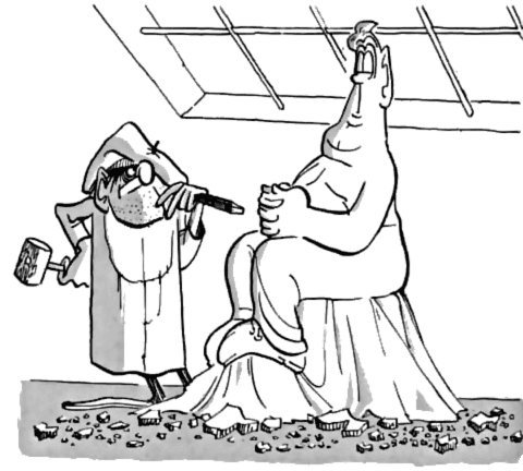 The sculptor in his studio, from The Completely MAD Don Martin