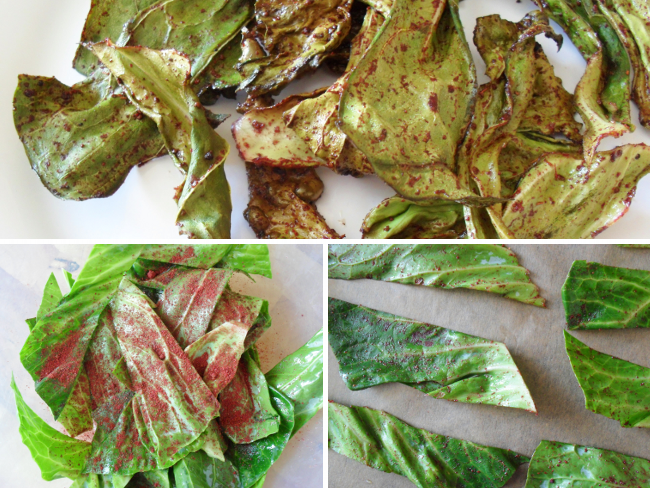Sumac dusted cabbage crisps/chips