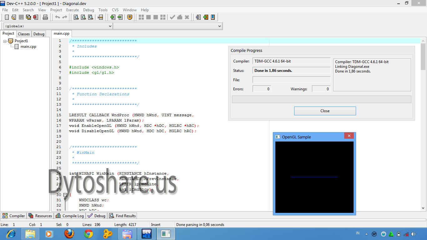 Daftar Isi: Dev C++ 5.2.0.0 + Glut 3.7.6