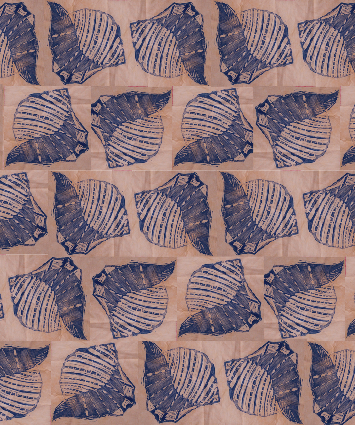 Sea Shell Fabric Design