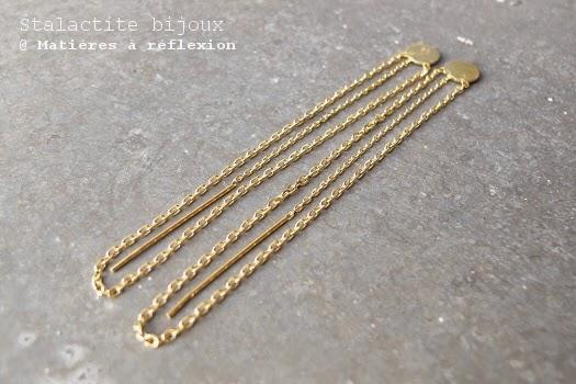 Boucles chaîne vermeil de Stalactite bijoux