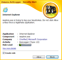 Zemana Antilogger Security Alert