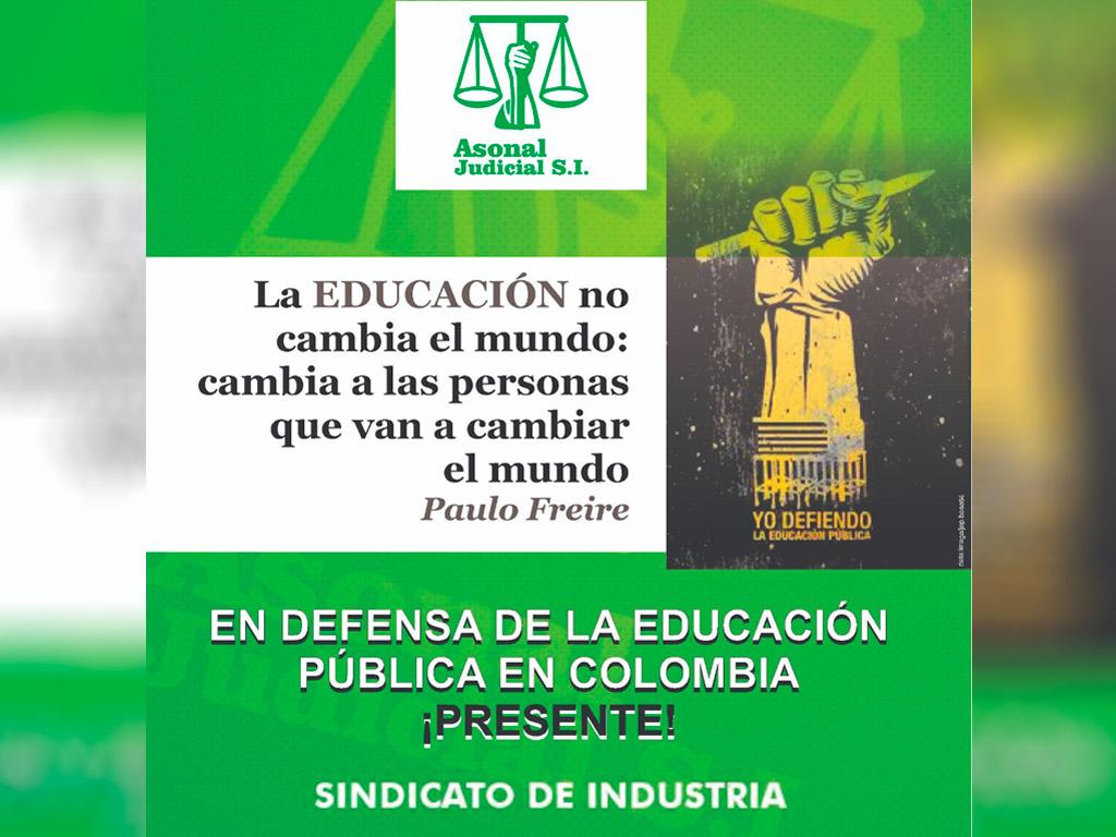 Asonal Judicial S.I. en defensa de la educación pública en Colombia