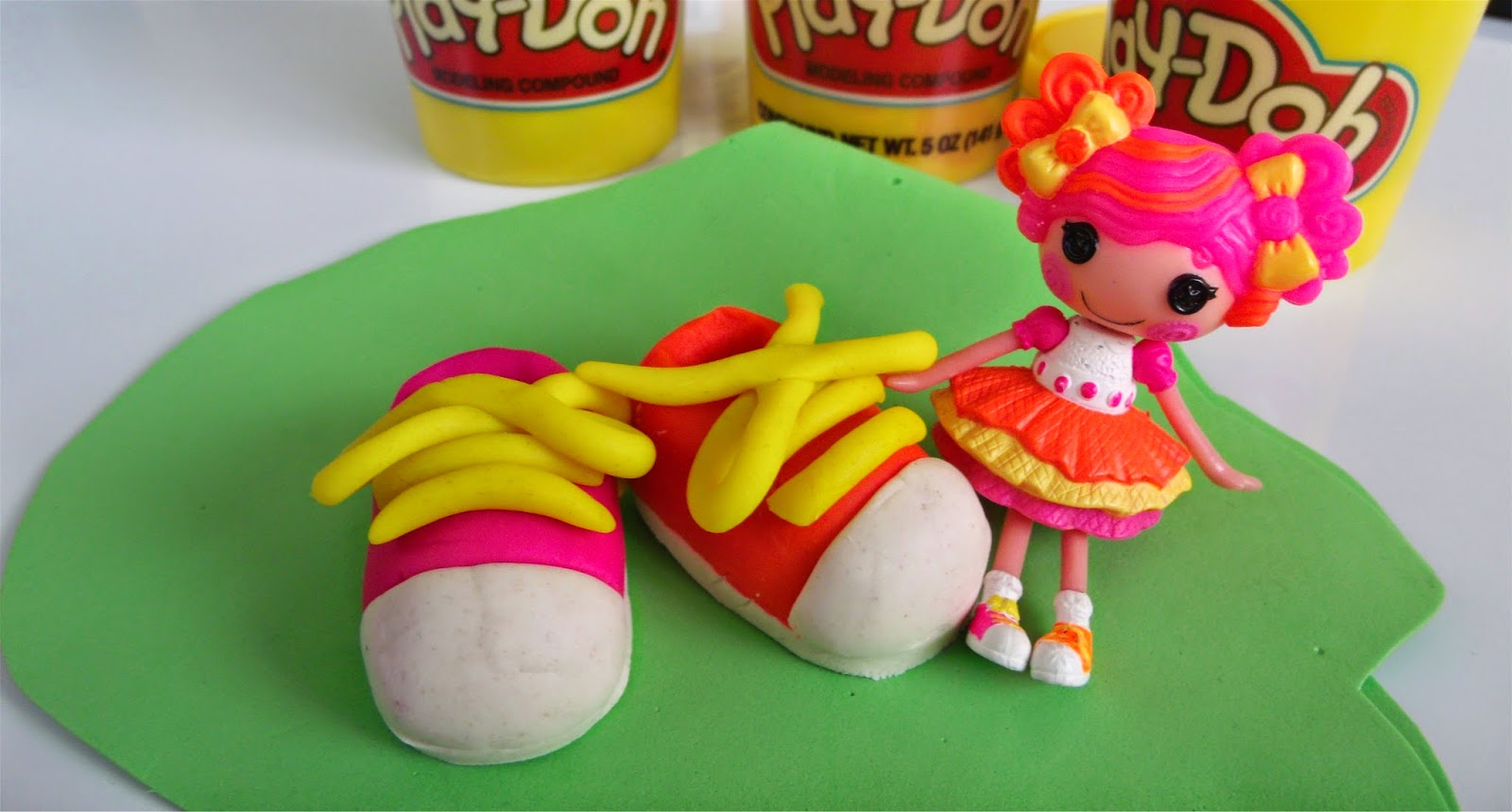 Lalaloopsy's giant Play Doh Tennis Shoes