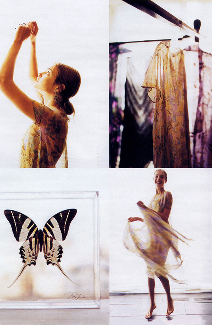 Natalia Vodianova in Vogue Russia September 2003 (photography: Jurgen Frank)