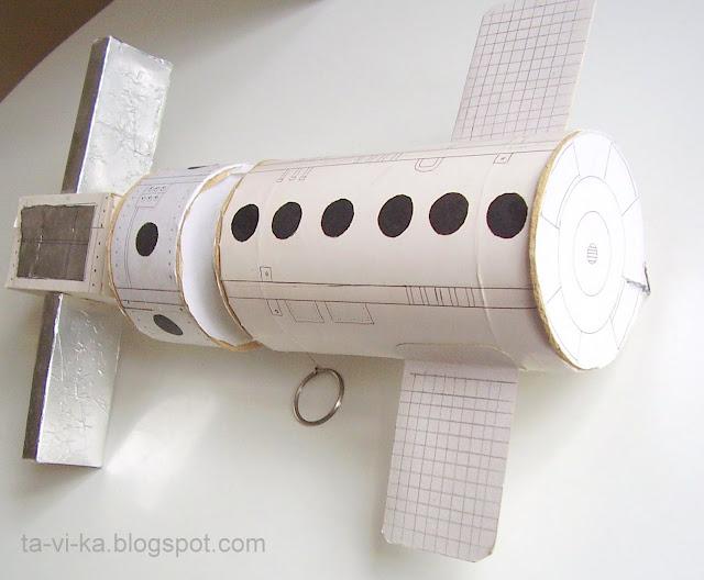 космическая станция из бумаги