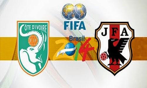 Prediksi Pantai Gading vs Jepang - Fifa World Cup 2014